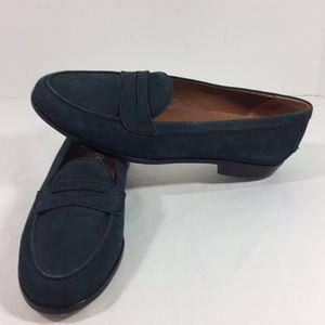 Women NINE WEST slip on loafers Teal sz.9 NWT